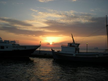 Atardecer desde Mykonos